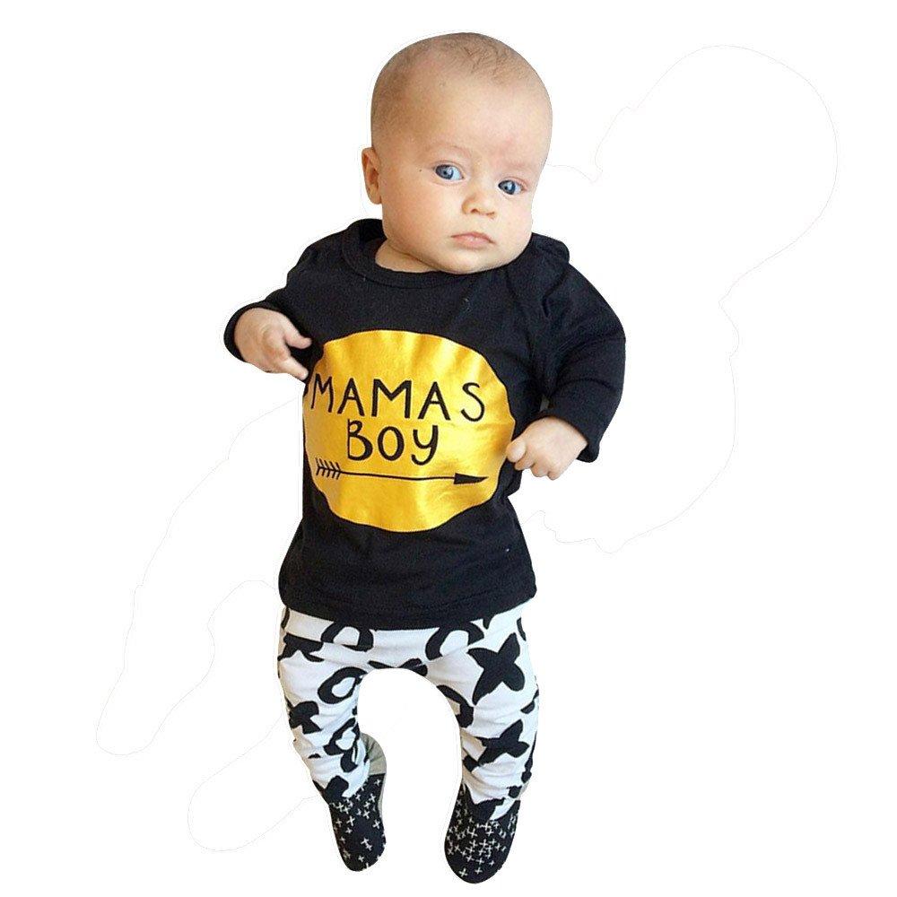 YanHoo Conjunto de Ropa para niños Traje de otoño e Invierno Bebé Infantil Manga Larga Carta Blusa Tops + Pantalones Trajes Conjunto de Ropa Traje Traje de Manga Larga de Dos Piezas para niño