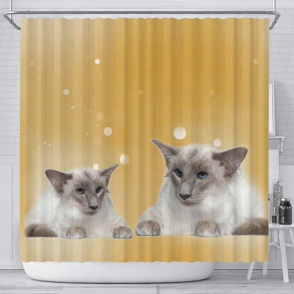 Mamazz Balinese Cat Print Shower Curtain by Mamazz