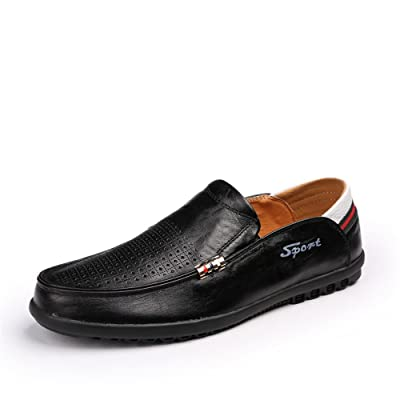 1994Fashion Men's Breathable Leather Slip-on Loafers Casual Driver Shoes