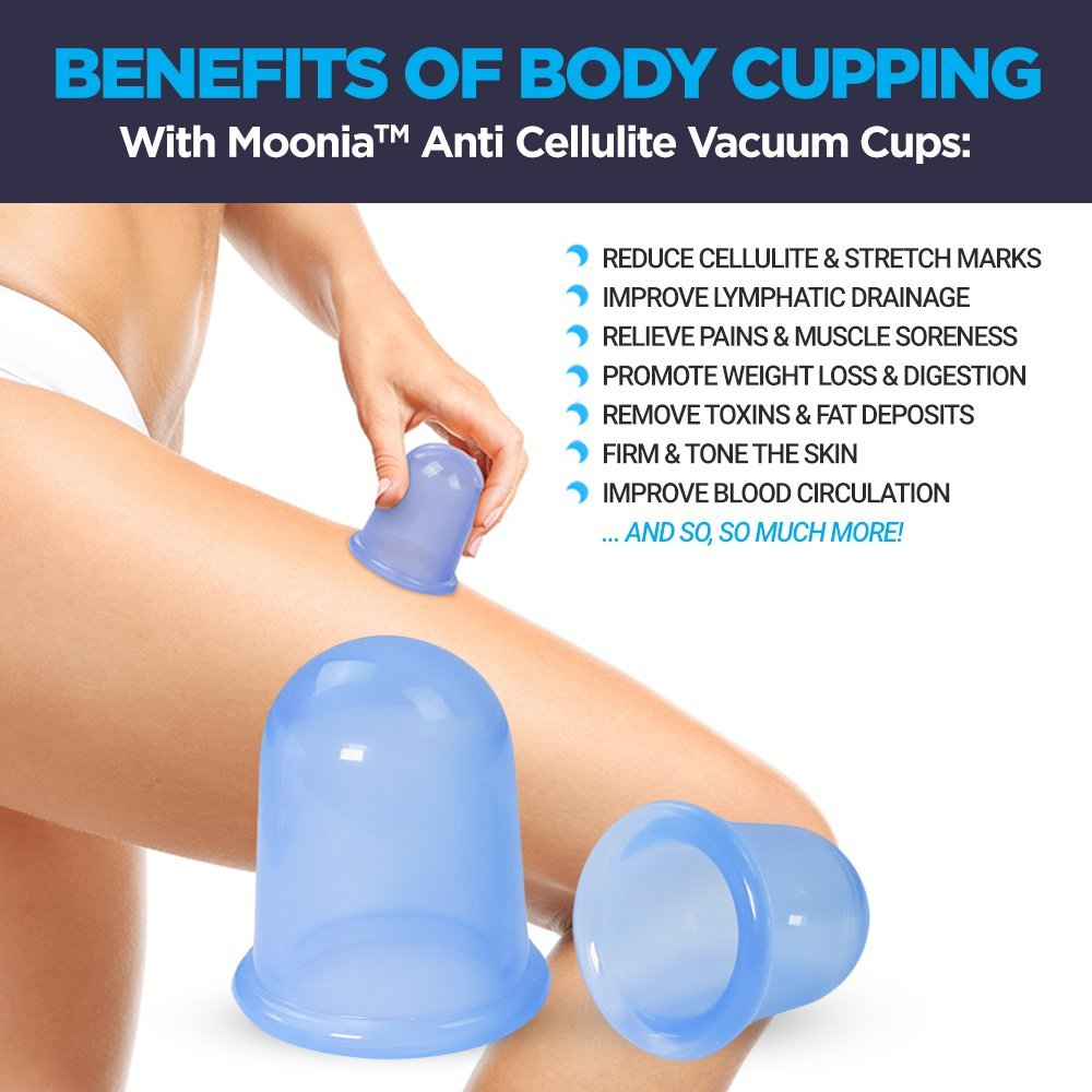 Anti Cellulite Cup Therapy Set - Silicone Suction Cups for Lymphatic  Drainage, Cellulite Massager -