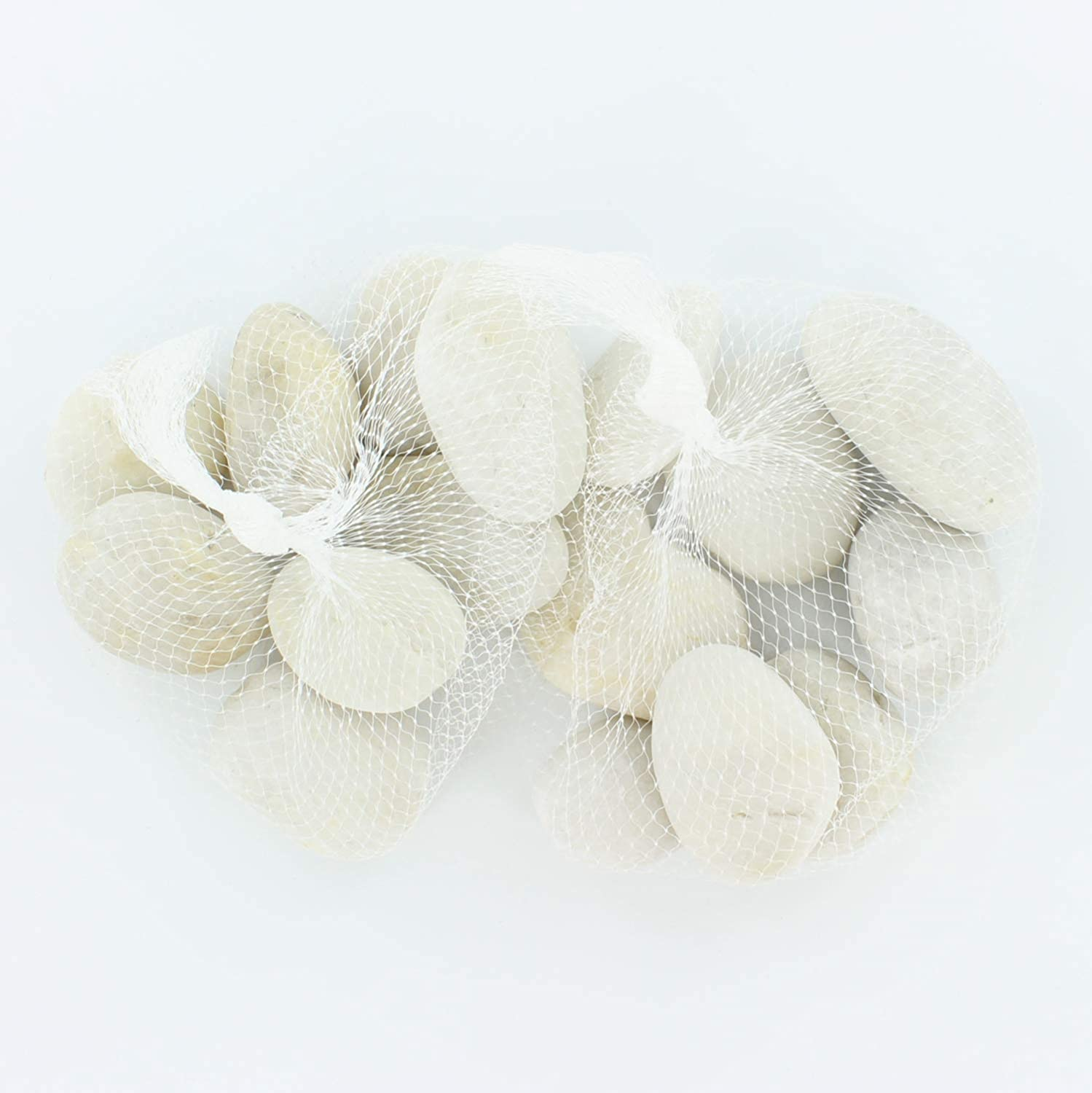 Smooth Stones with Flat Surface for Arts and Crafts White Rocks for Painting and Painting Kindness Rocks 2 to 3.5 inches in Length Set of 16