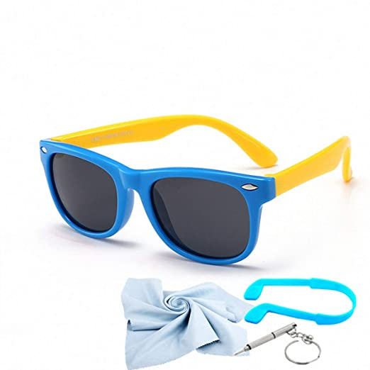 490460a36 Kids Sunglasses For Kids Polarized Sunglasses Girls Child Boys Age 3-10  (Blue&yellow