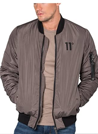 0b9f823a601 11 DEGREES 11 Degrees Explore Bomber Jacket Mastik L  Amazon.co.uk  Clothing
