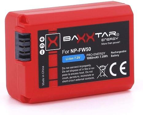 Baxxtar Pro - (2X) Compatible con batería Sony NP-FW50 ...