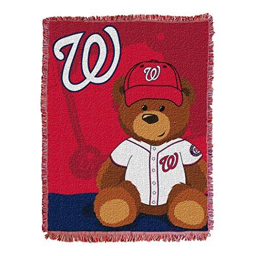 The Northwest Company MLB Washington Nationals Field Bear Woven Jacquard Baby Throw, 36