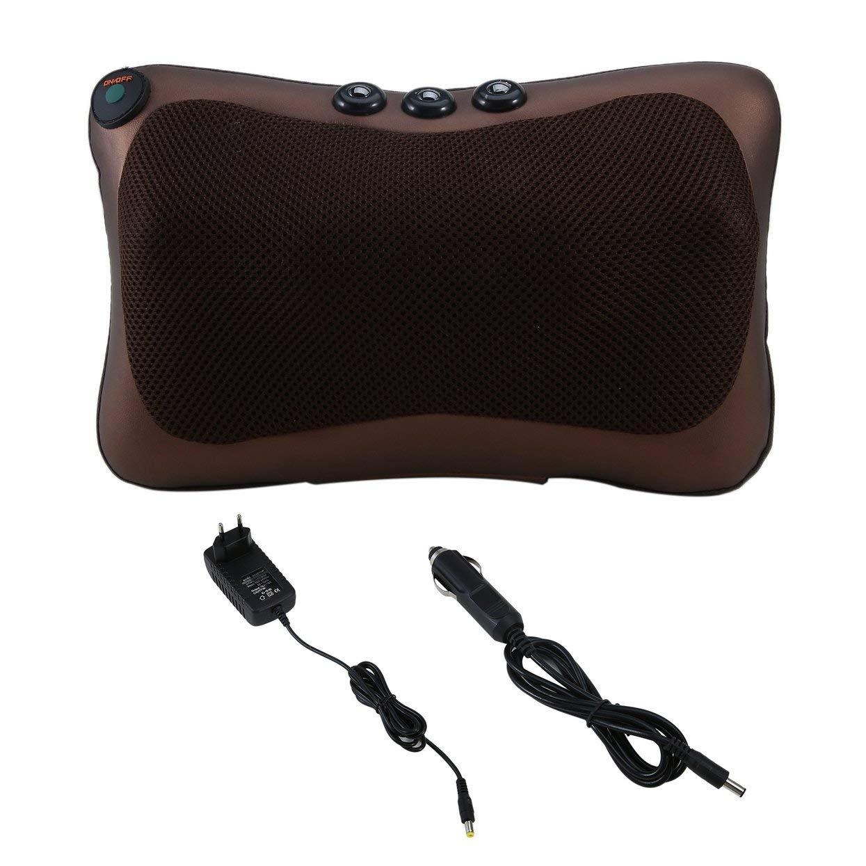Neck Massager Car Home Shiatsu Massage Neck Relaxation Back Waist Body Electric Massage Deep-Kneading Pillow Cushion LoveOlvidoY