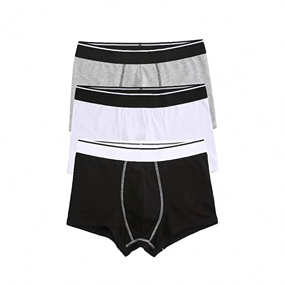 Men Underwear 3-Pack Cotton Boxer Brand Mens Underwear Boxers Cueca Boxer Masculina Calzoncillos Hombre
