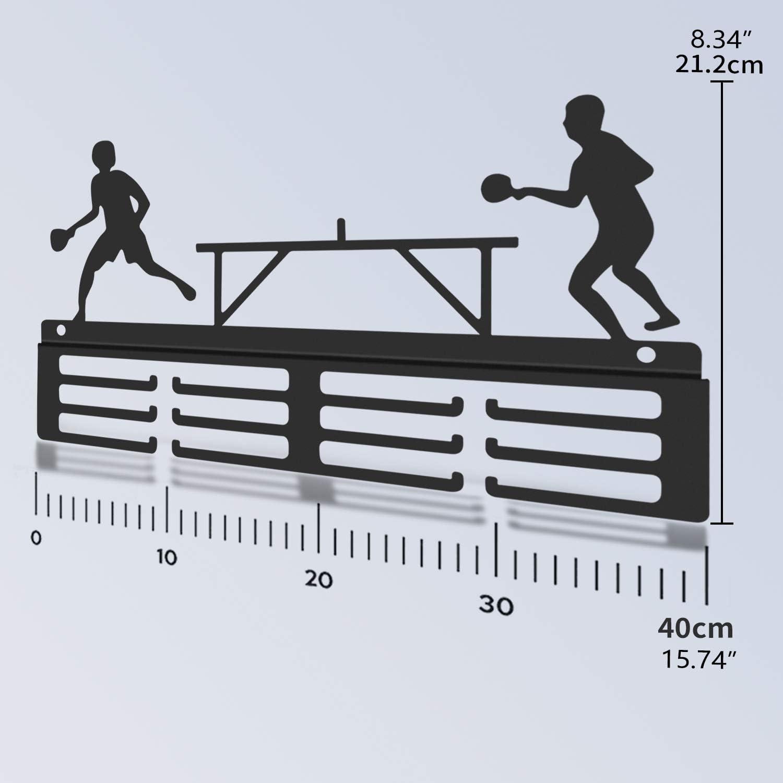 Porte-m/édailles de Tennis de Table WEBIN Porte-m/édailles de Tennis de Table troph/ées de Sport en m/étal Porte-m/édailles de Tennis de Table