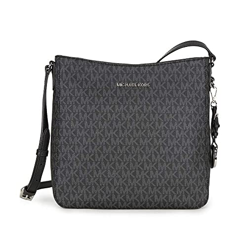 c10b7ea076b8 MICHAEL Michael Kors Jet Set Travel Large Logo Messenger (Black ...