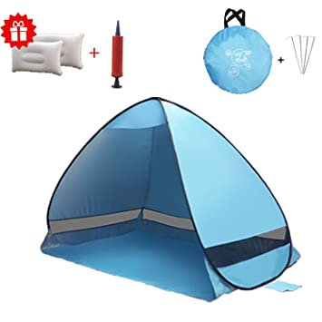 BeachTent HmiL-U Outdoor Automatic Pop up Beach Tent Instant Portable Quick Cabana Family Beach  sc 1 st  Amazon.com & Amazon.com : BeachTent HmiL-U Outdoor Automatic Pop up Beach Tent ...
