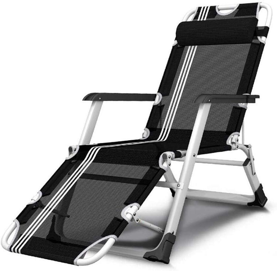 Hxx Silla reclinable reclinable reclinable, reclinable y reclinable para Silla de Ruedas, reclinable y reclinable con cojín Desmontable, Ajustable (Negro: Color: Silla + Estera),A