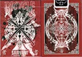 Samurai V3 Red Bicycle Playing Cards Poker Size Deck USPCC Custom Limited Edition