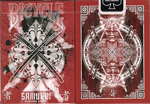 (Samurai V3 Red Bicycle Playing Cards Poker Size Deck USPCC Custom Limited Edition)