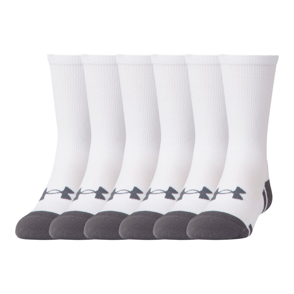 Under Armour UA Resistor III Crew – 6-Pack YLG White