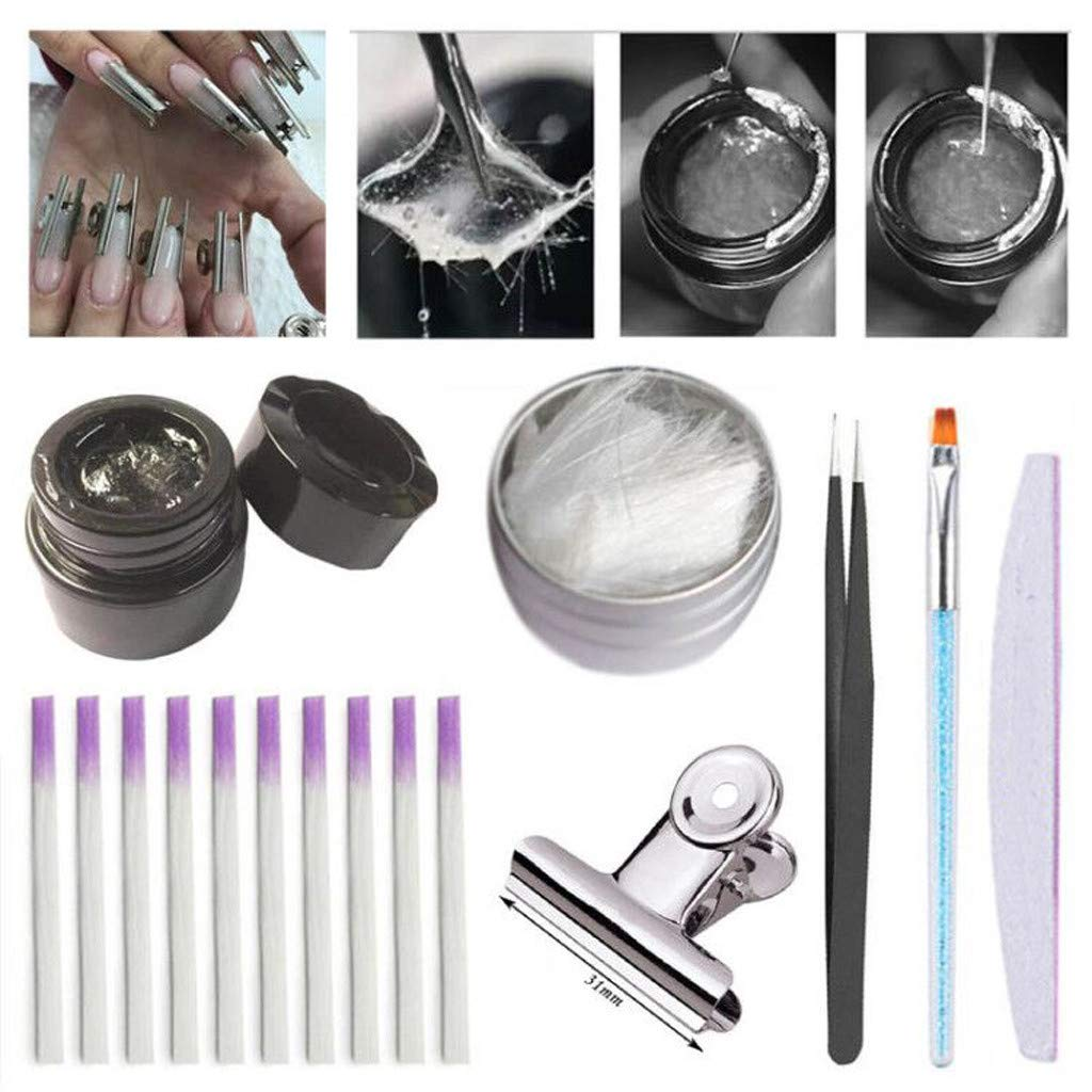 JYS Professional Fiberglass Nail Extension Gel Kit - Fiberglass for Nail Extension Glass Fiber False Nails Manicure Salon Tool Accessories - 78g by JYS Apparel