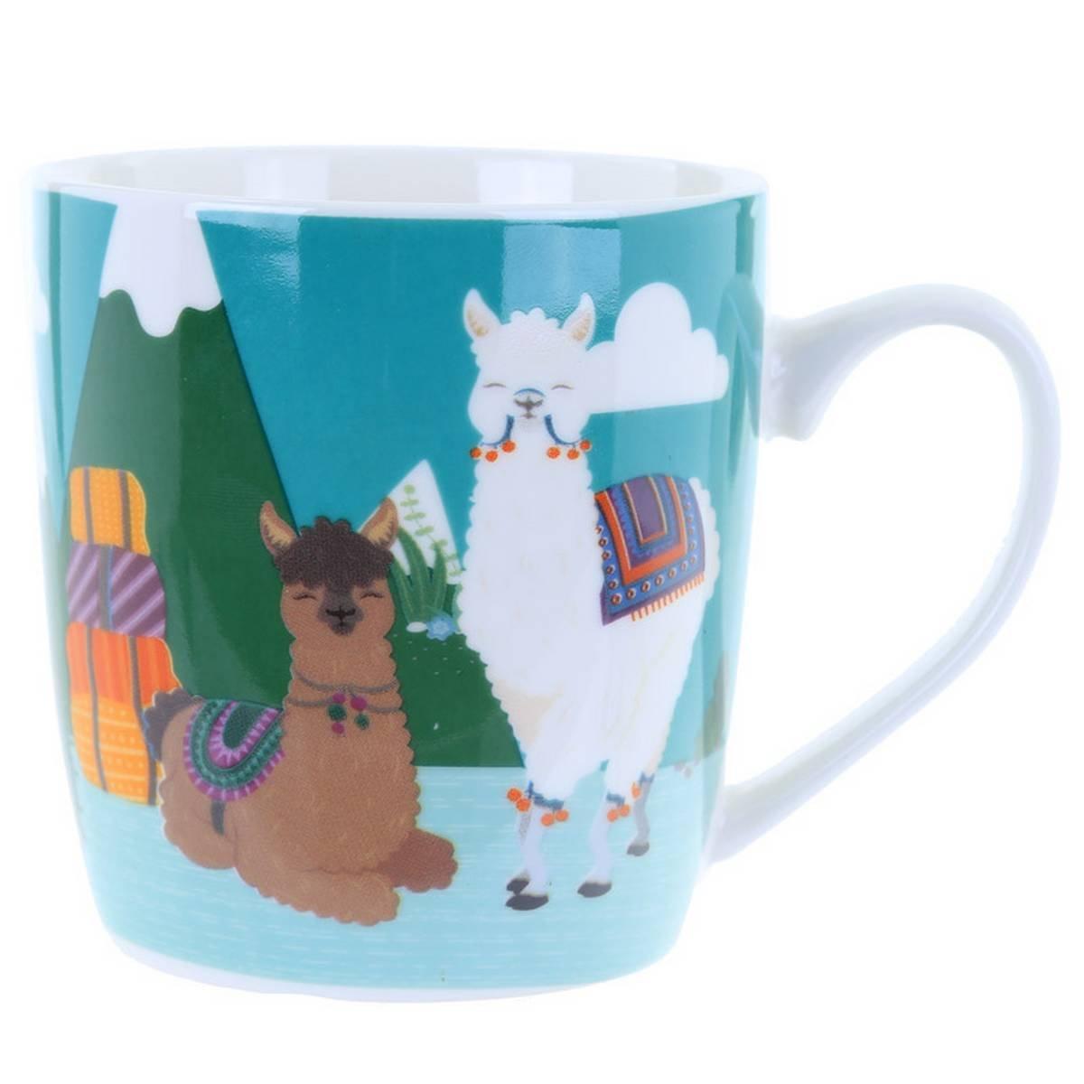 Alpaca Design-MUG255 Fun Animal New Bone China Mug