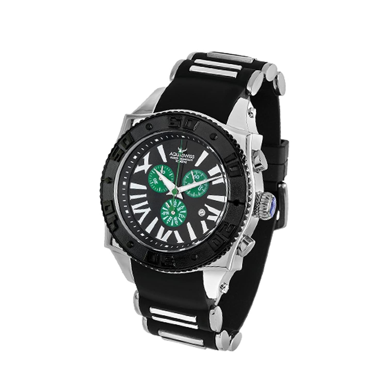 Aquaswiss Chronograph Swiss Quartz Large 50 mm Watch BalckダイヤルステンレススチールブラックベゼルDay Date # 62 X g0165 B004M578YK