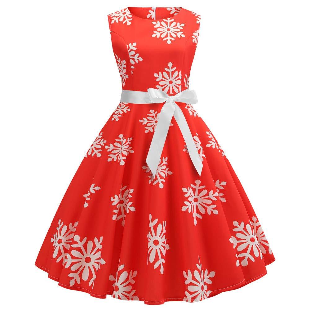 f5f1abb5eab6 Innerternet Women Evening Dresses Sleeveless Knee Length Dress Vintage Retro  Bandage Snow: Amazon.co.uk: Clothing