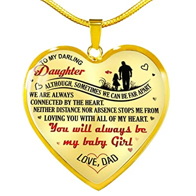 Amazon Com Fa Gifts Father Daughter Gifts Daughter Necklace Gift