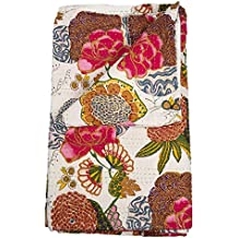 Karma Living White J Rally Floral Quilt   Twin With ONE Sham