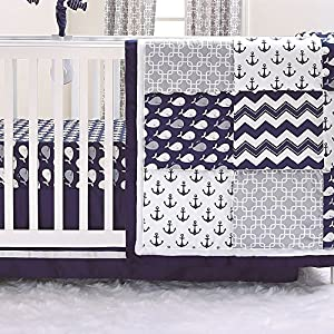61jnTvBL3RL._SS300_ Nautical Crib Bedding & Beach Crib Bedding Sets