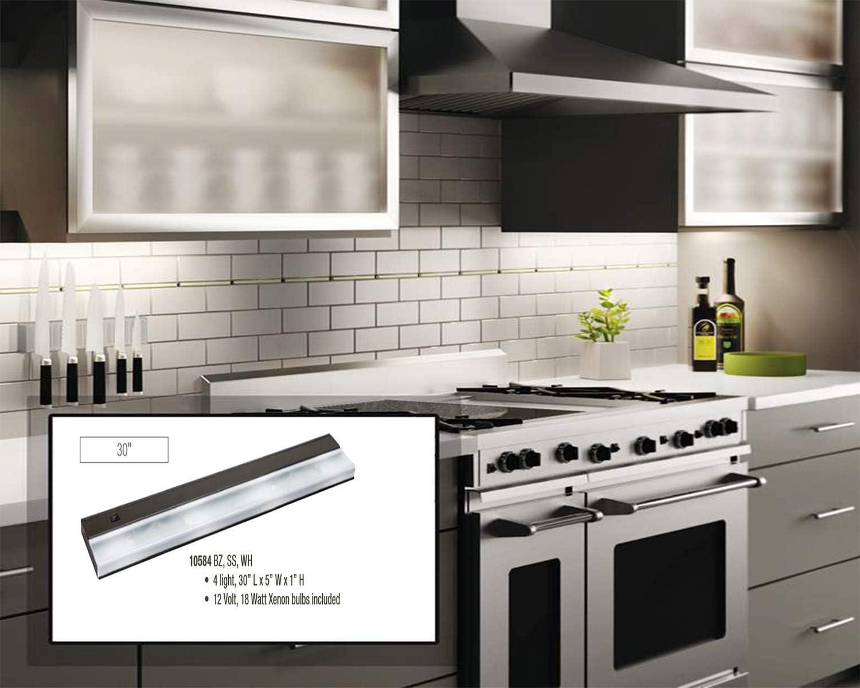 Kichler 10580BZ TaskWork Direct Wire 12IN 2LT 12V Xenon Undercabinet Light Bron