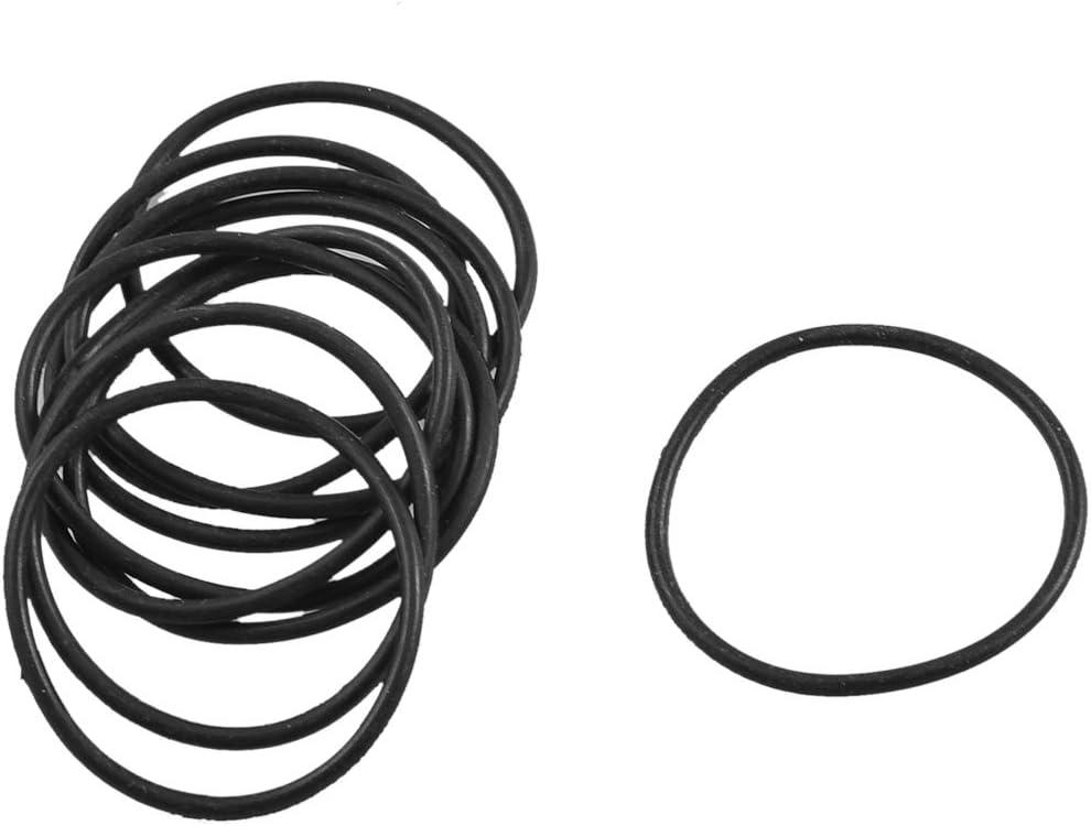 sourcingmap/® 10 Pi/èces en caoutchouc noir joint filtre /à huile Joint torique 27mm x 24mm x 1,5mm