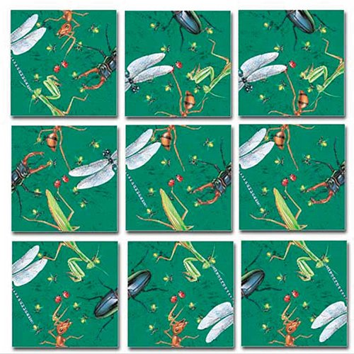 Bugs Cardboard Jigsaw Puzzle - B.Dazzle Scramble Squares: Insects