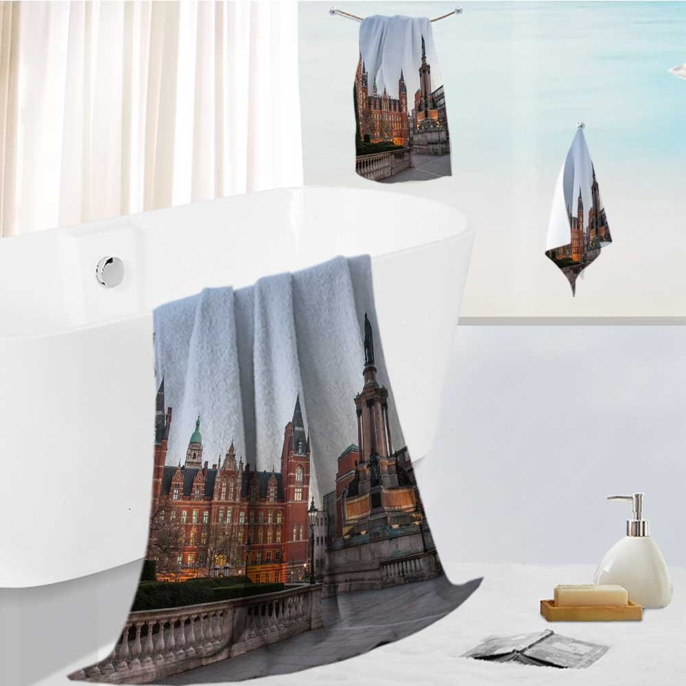 Analisahome Cotton Large Hand Towel Set imperial college in london Multipurpose Bathroom Towels for Hand