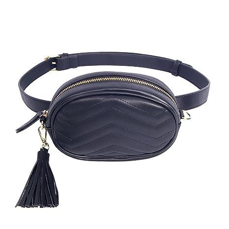 9d59e9495 Amazon.com | Kukoo Women Leather Waist Belt Bag Elegant Fanny pack Cell  Phone Money Pouch | Waist Packs