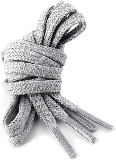 Les lacets Français – Cordones planos de algodón, color gris ...