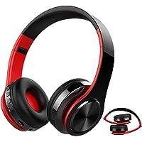 Auricular Bluetooth Inalámbrico, kainuoa Cascos Bluetooth Plegable, Cascos de Diadema Estéreo HiFi Cerrados con
