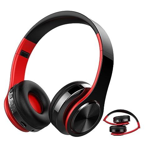 Auricular Bluetooth Inalámbrico, NickSea Cascos Bluetooth Plegable, Cascos de Diadema Estéreo HiFi Cerrados con