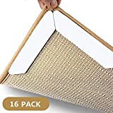 Non-Slip Washable 16 Pcs Premium Large Size Anti Curling Carpet Tape Rug Gripper – Will Keep Rug In Place & Keep Corners Flat, Advanced With Carpet Tape, Double Sided Keeps Your Rugs Safe and in Place