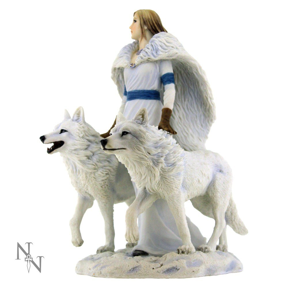 Winter Guardians Wolf Figurine By Anne Stokes by Anne Stokes Collection
