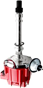 MOSTPLUS 65K Coil Distributor for GMC Small Block Chevy V8 265 267 283 302 305 307 327 350 383 400 396 427 454