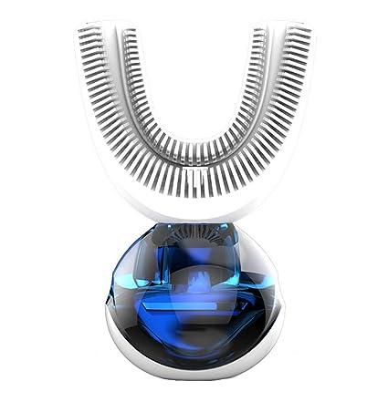 HYFZY Cepillo de Dientes eléctrico de Silicona Inteligente automático de Cepillo en Forma de U Perezoso