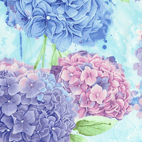 Blue, Lilac, Lavender Large Hydrangeas, Harmony, Timeless Treasures, by The Yard ()