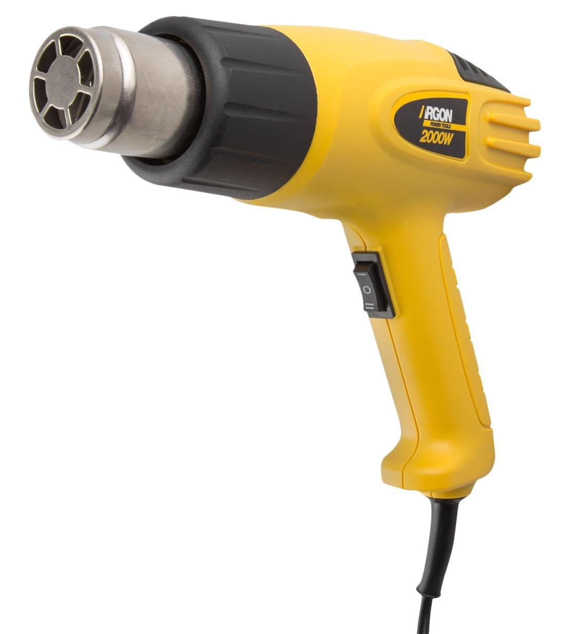 Argon Power Tools 46239 - Pistola de decapadora (2000W, temperatura 300-600º C) color amarillo temperatura 300-600ºC) color amarillo