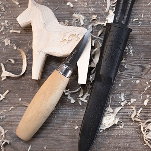 Mora Carving Knife 122: Morakniv Wood Carving 120 Knife With Laminated Steel Blade