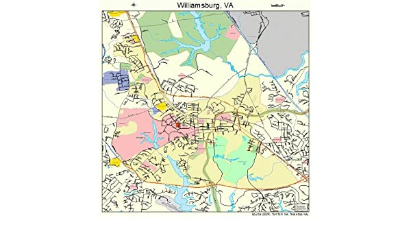 Amazon large street road map of williamsburg virginia va amazon large street road map of williamsburg virginia va printed poster size wall atlas of your home town outdoor recreation topographic maps gumiabroncs Images