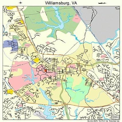 Amazon.com: Large Street & Road Map of Williamsburg ...