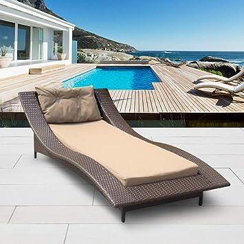 smzzz Muebles de jardín de ratán para Interiores y Exteriores para Exterior Muebles de Jardín, Terraza, Patio: Amazon.es: Deportes y aire libre