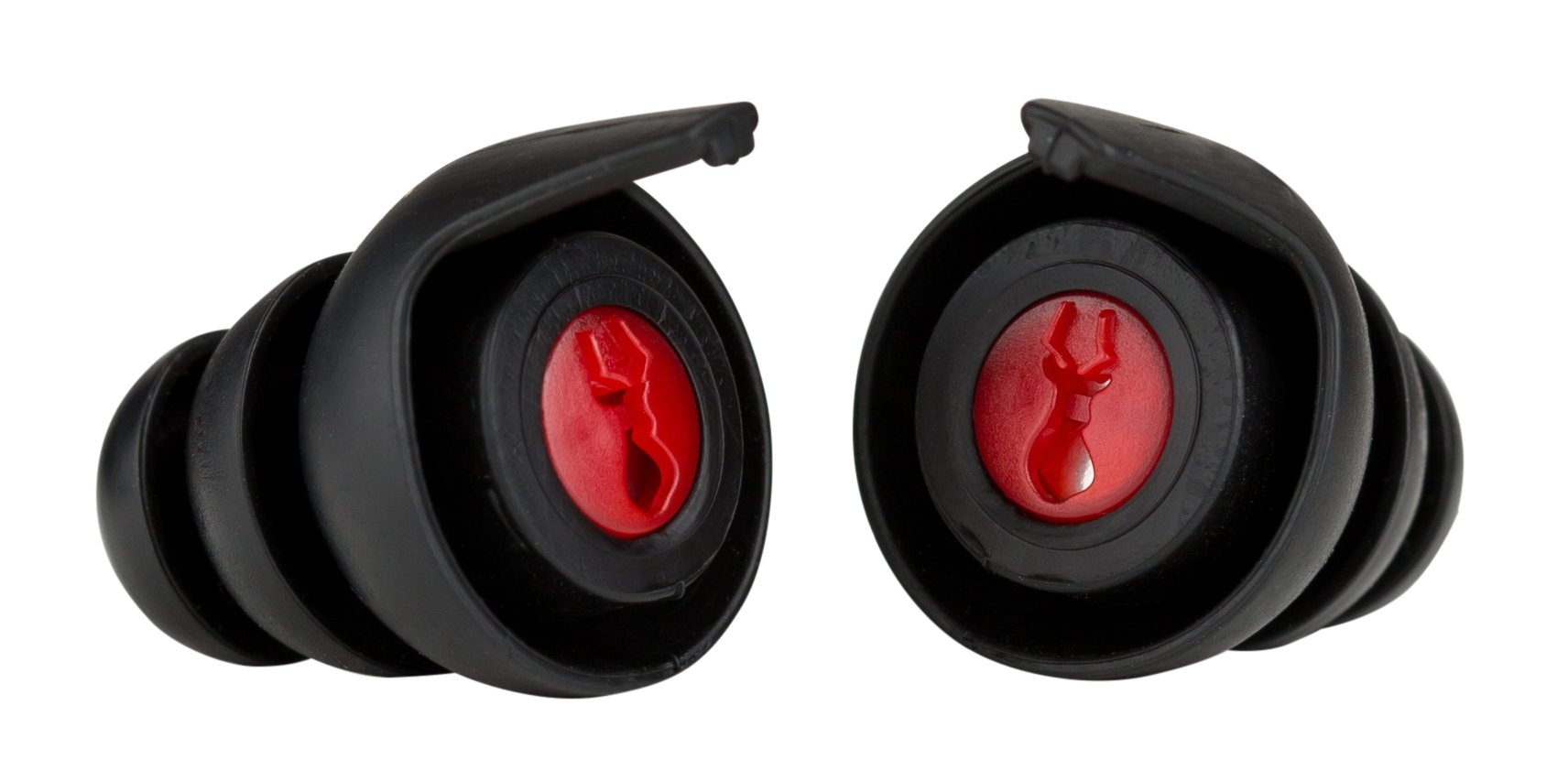 Safariland In-Ear Impulse Hearing Protection, Black/Red, Medium/Large
