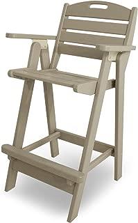 product image for POLYWOOD NCB46SA Nautical Bar Chair, Sand