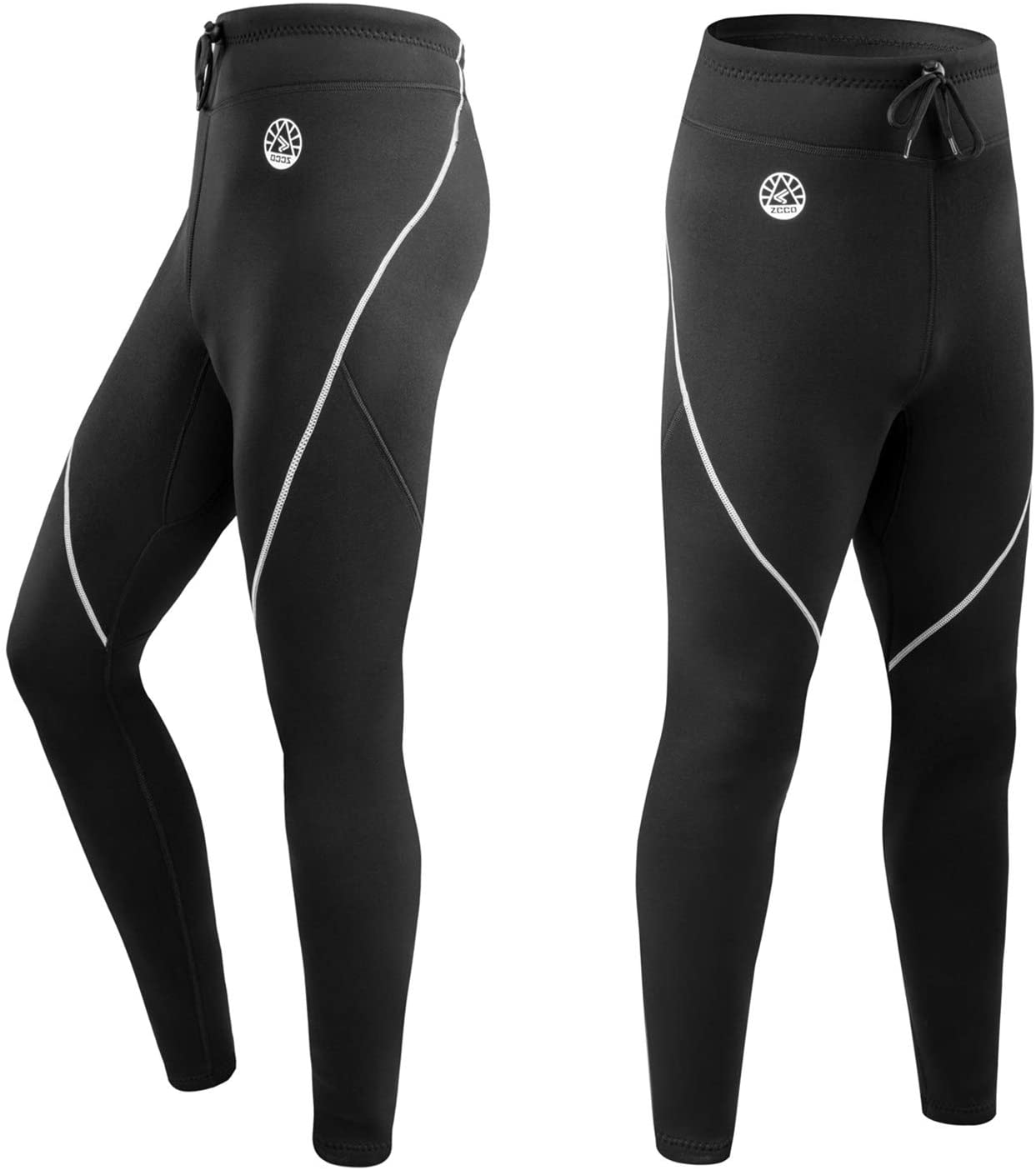 ZCCO1 Men's Wetsuit Pants, 1.5mm Neoprene Long Pants for Surfing Kayaking Swimming Diving Canoeing