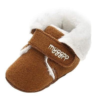 Beikoard - Chaussure Bébé Enfant Chaussures Chaudes Automne et Hiver  Chaussures pour Enfants Fond Mou Antidérapant c14a4d3ef25b
