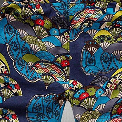 gran trabajo Pantalones de Tipo azul Elasticidad pantalones casual impreso de Verano 1 cortos nuevo playa de deporte Adeshop ropa tama deportiva recta sueltos Hombres o qpE6X4Ow