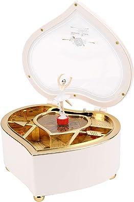 Caja de Música con forma de corazón