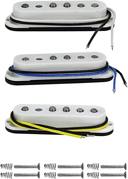 FLEOR Vintage sola bobina Guitarra Pastillas Alnico 5 Cable de ...